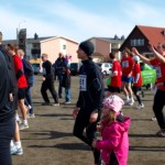 Christian and Emilia Schmeikal at warm up before Skärgårdsmilen 10k race 2011